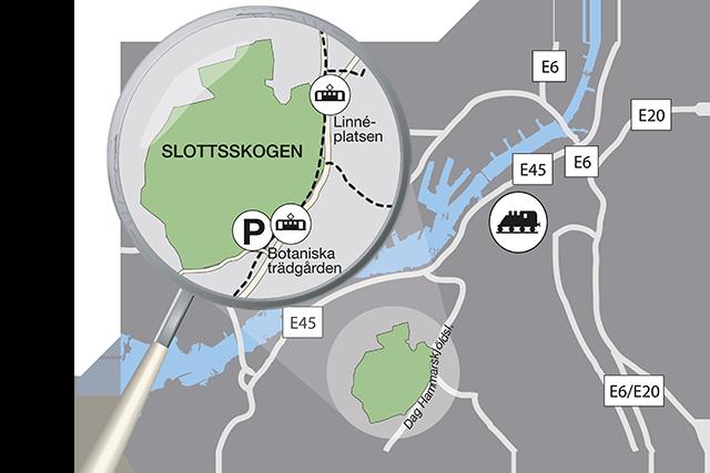 Karta E6 Goteborg.Karta Hitta Hit Slottsskogen Goteborgs Stad